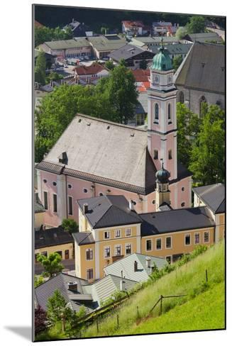View from the Lockstein on Berchtesgaden, Saint Andreas Church, Berchtesgadener Land District-Rainer Mirau-Mounted Photographic Print