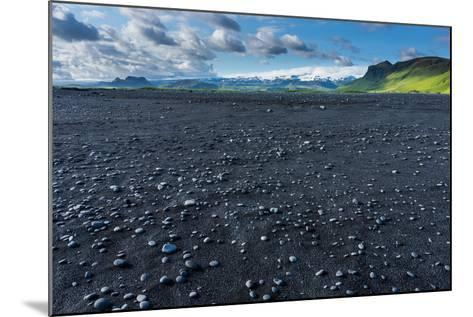 At the Black Sandy Beach of Reynisfjara-Catharina Lux-Mounted Photographic Print