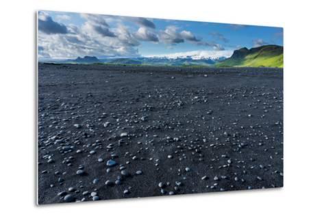 At the Black Sandy Beach of Reynisfjara-Catharina Lux-Metal Print