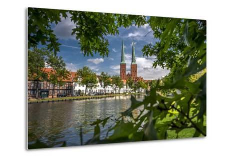 Germany, Schleswig - Holstein, L?beck (City), Old Town, Cathedral, Trave (River)-Ingo Boelter-Metal Print