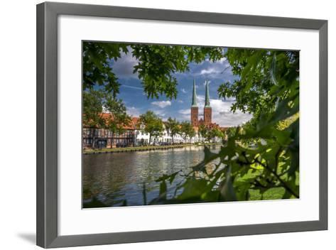 Germany, Schleswig - Holstein, L?beck (City), Old Town, Cathedral, Trave (River)-Ingo Boelter-Framed Art Print