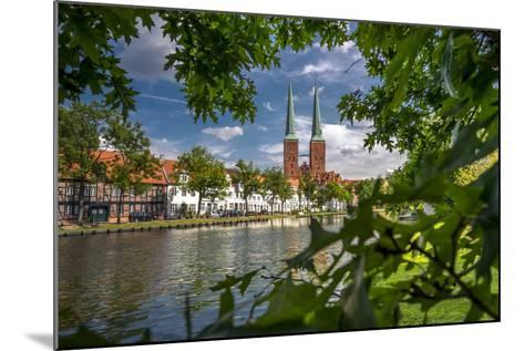 Germany, Schleswig - Holstein, L?beck (City), Old Town, Cathedral, Trave (River)-Ingo Boelter-Mounted Photographic Print