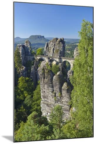 Europe, Germany, Saxony, Elbsandsteingebirge, Bastion-Chris Seba-Mounted Photographic Print