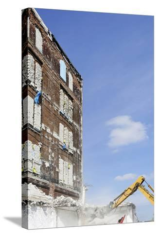 Demolition of Old Buildings, Shanghaiallee, Hafencity, Mitte, Hanseatic City of Hamburg, Germany-Axel Schmies-Stretched Canvas Print