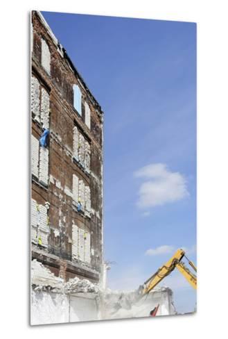Demolition of Old Buildings, Shanghaiallee, Hafencity, Mitte, Hanseatic City of Hamburg, Germany-Axel Schmies-Metal Print