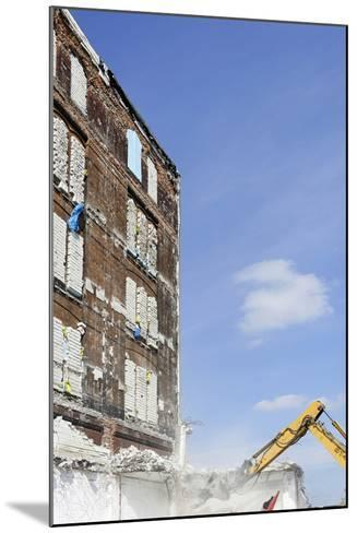 Demolition of Old Buildings, Shanghaiallee, Hafencity, Mitte, Hanseatic City of Hamburg, Germany-Axel Schmies-Mounted Photographic Print