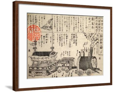 Gift from the Emperor of the United States of North America: a Steam Train--Framed Art Print