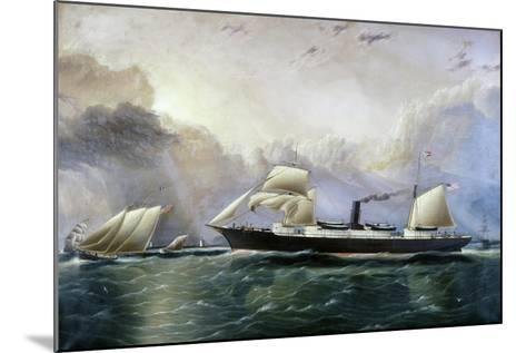 U.S. Mail Ship Crescent City-James Edward Buttersworth-Mounted Giclee Print
