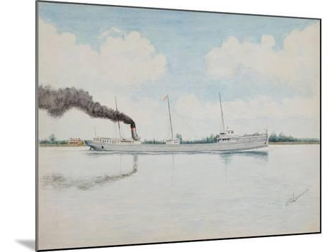 American Cargo Ship, William. H. Gratwick, Built 1893 N.Y.C. and H.R.RR Line-William Gardham Larmour-Mounted Giclee Print