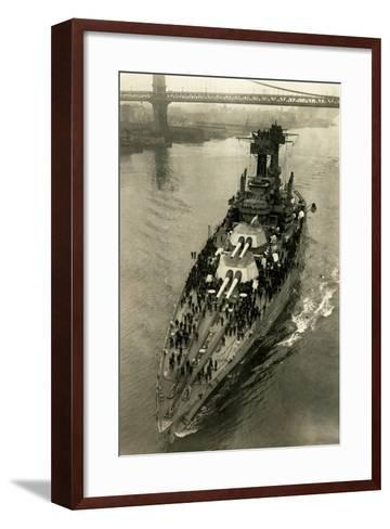 Battleship Maryland in the East River-Edwin Levick-Framed Art Print