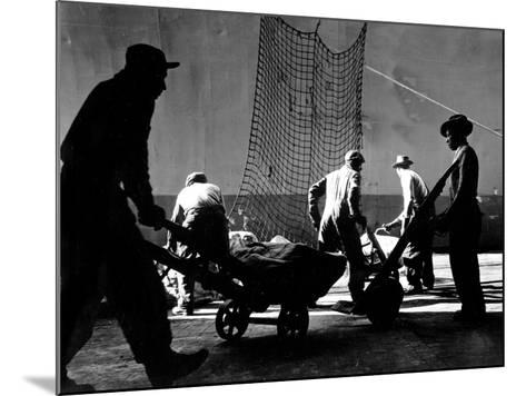Stevedores at Work-A. Aubrey Bodine-Mounted Photographic Print