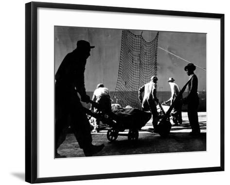 Stevedores at Work-A. Aubrey Bodine-Framed Art Print