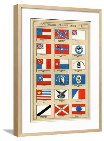 Southern Flags 1861-64-George Henry Preble-Framed Art Print