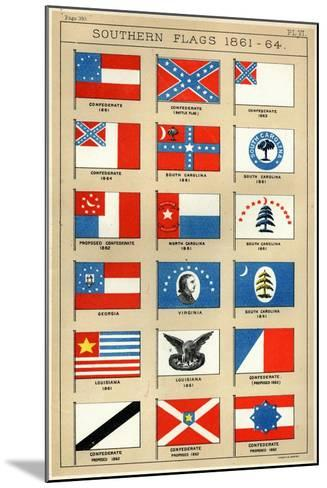 Southern Flags 1861-64-George Henry Preble-Mounted Giclee Print