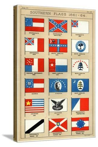 Southern Flags 1861-64-George Henry Preble-Stretched Canvas Print