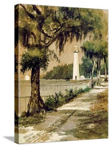 Bioloxi Lighthouse, Biloxi, Mississippi-William Aiken Walker-Stretched Canvas Print