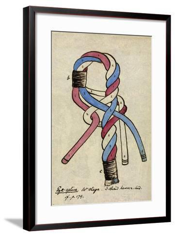 Eye Splice; First Stage, Three Strand Hawser-Laid-Henry North Grant Bushby-Framed Art Print