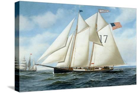 American Pilot Schooner, Fannie-Antonio Jacobsen-Stretched Canvas Print