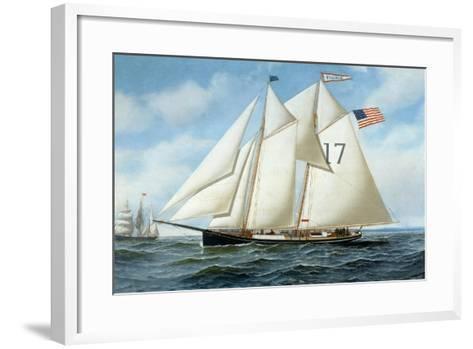 American Pilot Schooner, Fannie-Antonio Jacobsen-Framed Art Print