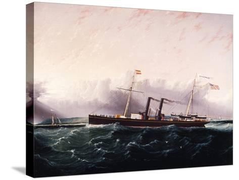 C.S.S. Chickamauga Ca. 1860-1880-James Edward Buttersworth-Stretched Canvas Print