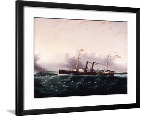 C.S.S. Chickamauga Ca. 1860-1880-James Edward Buttersworth-Framed Art Print