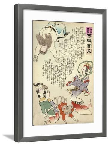An Aggressive Russian Octopus-Kobayashi Kiyochika-Framed Art Print