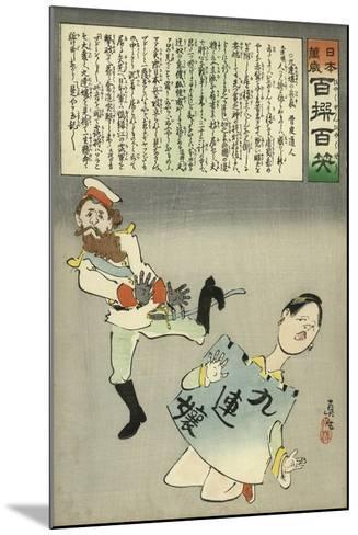 Miss Jiuliancheng and the Russian Soldier-Kobayashi Kiyochika-Mounted Giclee Print