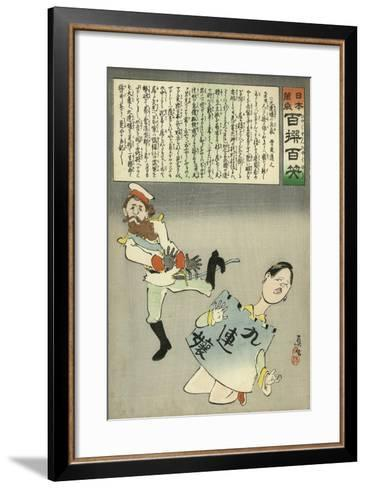 Miss Jiuliancheng and the Russian Soldier-Kobayashi Kiyochika-Framed Art Print