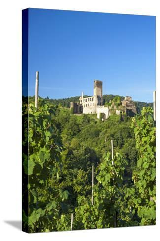 Metternich Castle About Vineyards, Beilstein, Moselle River, Rhineland-Palatinate, Germany-Chris Seba-Stretched Canvas Print