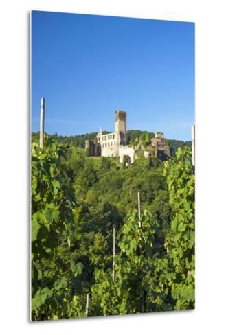 Metternich Castle About Vineyards, Beilstein, Moselle River, Rhineland-Palatinate, Germany-Chris Seba-Metal Print