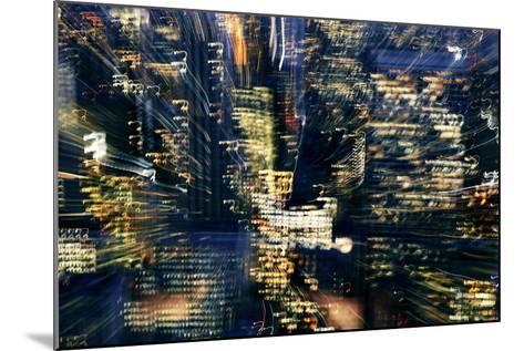 Manhattan at Night, Lights, Abstract, Artistic, New York City, Usa- Skaya-Mounted Photographic Print