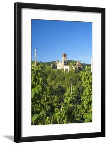 Metternich Castle About Vineyards, Beilstein, Moselle River, Rhineland-Palatinate, Germany-Chris Seba-Framed Art Print