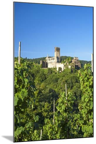 Metternich Castle About Vineyards, Beilstein, Moselle River, Rhineland-Palatinate, Germany-Chris Seba-Mounted Photographic Print
