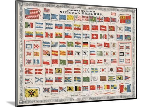Johnson's New Chart of National Emblems-A^J^ Johnson-Mounted Giclee Print