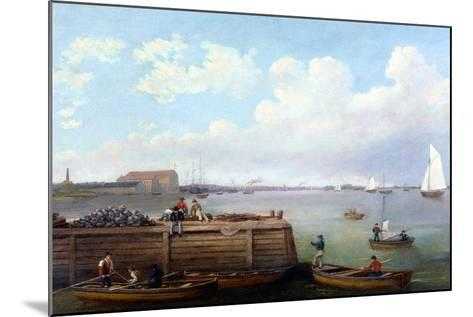 View of the Philadelphia Navy Yard-Thomas Birch-Mounted Giclee Print