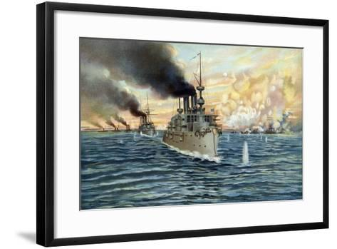 U.S. Navy - Naval Battle of Manila - May 1st, 1898-Werner-Framed Art Print