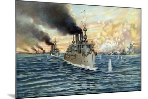 U.S. Navy - Naval Battle of Manila - May 1st, 1898-Werner-Mounted Giclee Print