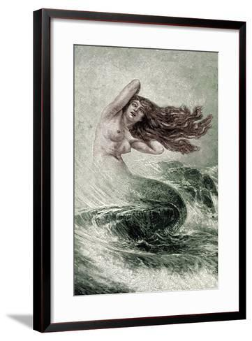 Mermaid from the Seas-Sinding Otto-Framed Art Print