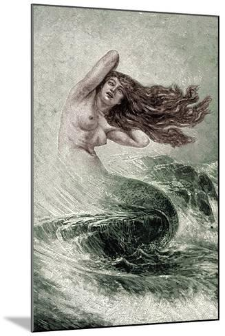 Mermaid from the Seas-Sinding Otto-Mounted Giclee Print