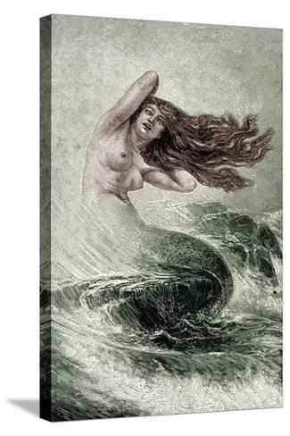 Mermaid from the Seas-Sinding Otto-Stretched Canvas Print
