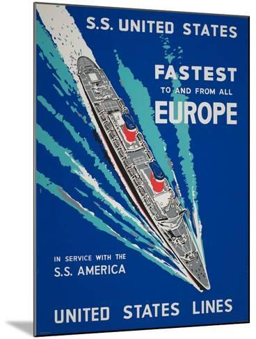 Fastest to and from All Europe--Mounted Giclee Print