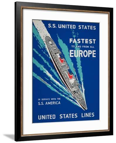 Fastest to and from All Europe--Framed Art Print