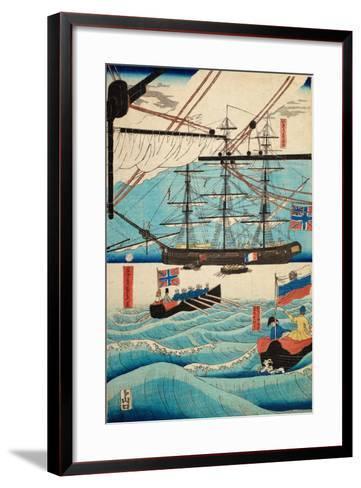 European Ship in Japanese Harbor, Circa 1860, Number 4-Sadi Radi-Framed Art Print