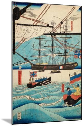 European Ship in Japanese Harbor, Circa 1860, Number 4-Sadi Radi-Mounted Giclee Print