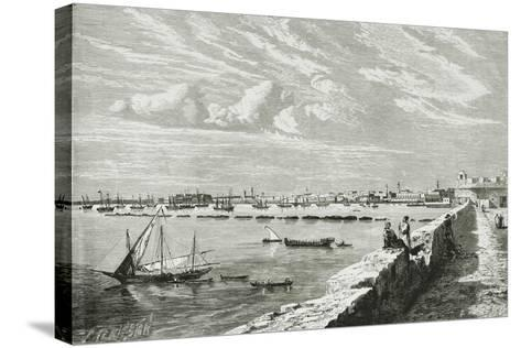 Harbour of Tripoli--Stretched Canvas Print
