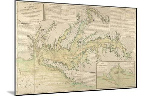 Map of the Chesapeake Bay, 1778--Mounted Giclee Print