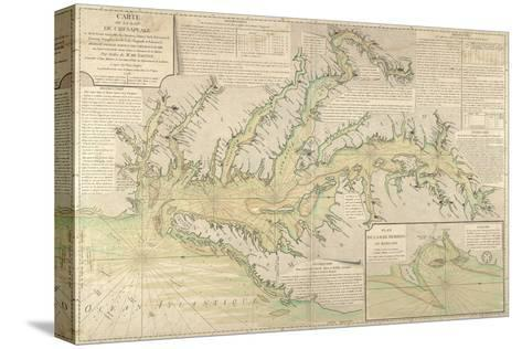 Map of the Chesapeake Bay, 1778--Stretched Canvas Print