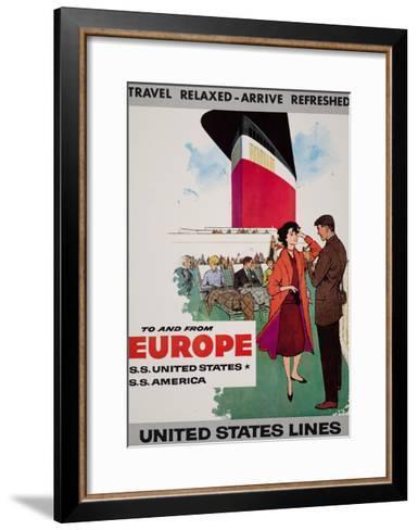 Travel Relaxed Arrive Refreshed to and from Europe--Framed Art Print