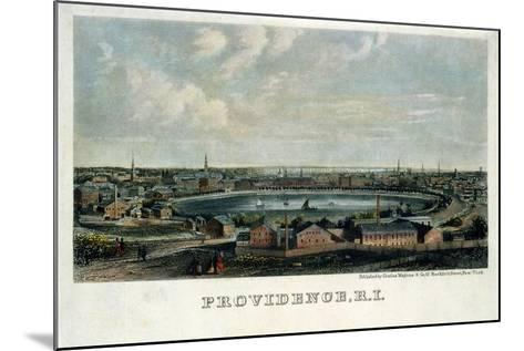 Providence, Rhode Island--Mounted Giclee Print