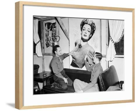 Officers Admiring an Unknown Movie Star- HRPE-Framed Art Print